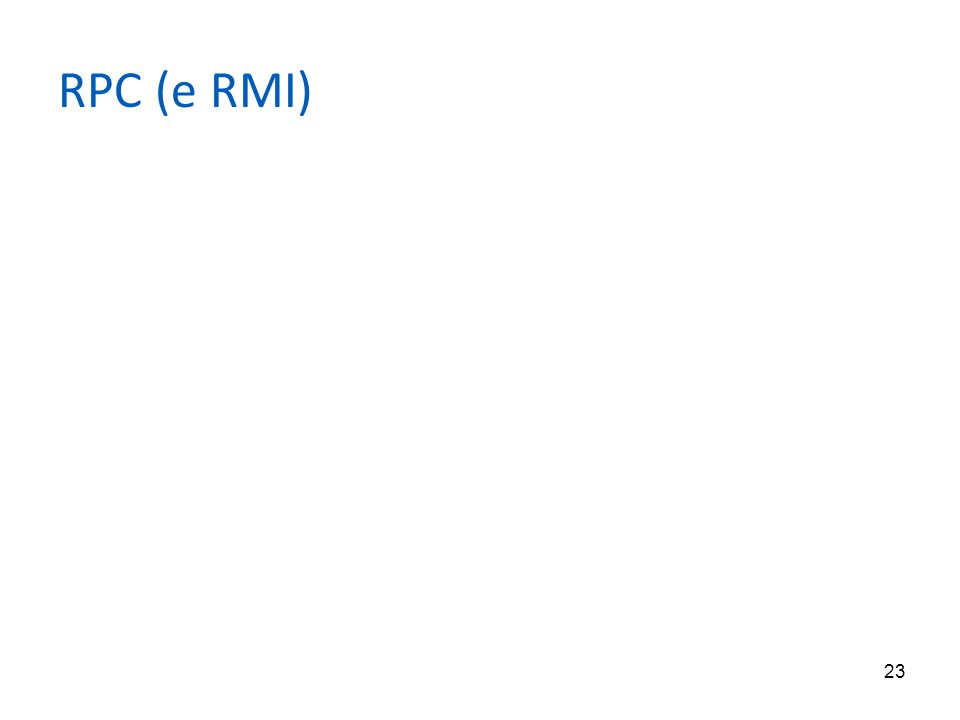 23 RPC (e RMI)