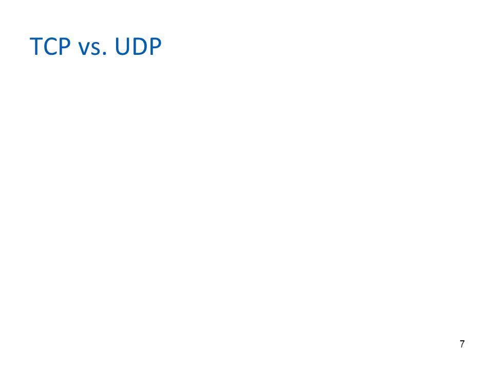 7 TCP vs. UDP