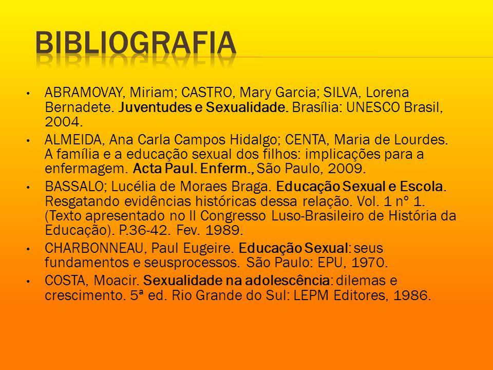 ABRAMOVAY, Miriam; CASTRO, Mary Garcia; SILVA, Lorena Bernadete.