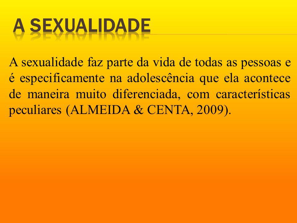 A sexualidade faz parte da vida de todas as pessoas e é especificamente na adolescência que ela acontece de maneira muito diferenciada, com características peculiares (ALMEIDA & CENTA, 2009).