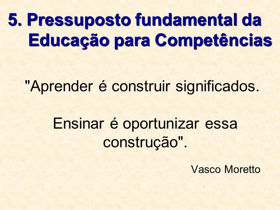 5. Pressuposto fundamental da Educação para Competências