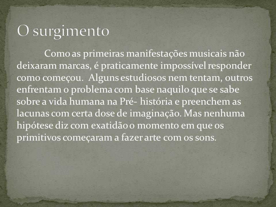 Como as primeiras manifestações musicais não deixaram marcas, é praticamente impossível responder como começou. Alguns estudiosos nem tentam, outros e