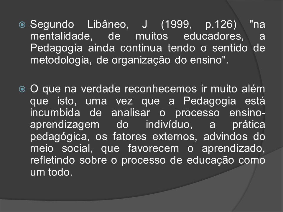  Segundo Libâneo, J (1999, p.126)