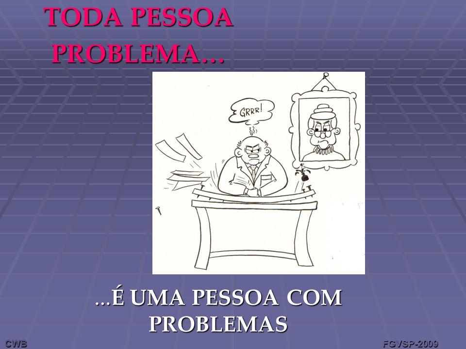 TODA PESSOA PROBLEMA… … É UMA PESSOA COM PROBLEMAS CWB FGVSP-2009