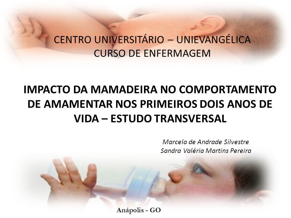 Aleitamento Materno A Organização Mundial de Saúde (2002) recomenda o aleitamento materno exclusivo (AME) até o sexto mês de vida e aleitamento materno complementado do sexto mês de vida aos dois anos de idade ou mais.