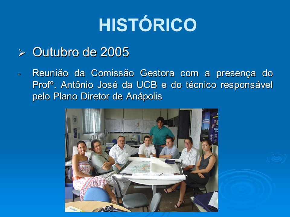  Outubro de 2005 - Reunião da Comissão Gestora com a presença do Profº. Antônio José da UCB e do técnico responsável pelo Plano Diretor de Anápolis H