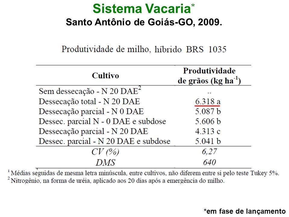 Sistema Vacaria * Santo Antônio de Goiás-GO, 2009. *em fase de lançamento