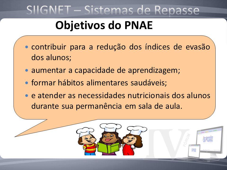 O PNAE tem caráter universal e atende aproximadamente 34,6 milhões de alunos, que precisam constar do censo escolar anual elaborado pelo Ministério da