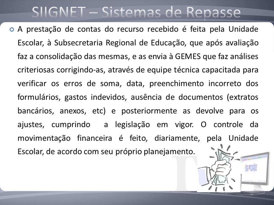 Os Supervisores Técnicos da Merenda Escolar analisam e revisam as Prestações de Contas dos Programas, executados pelas Subsecretarias Regionais de Edu