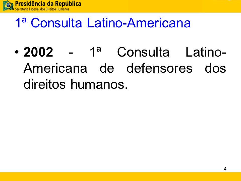 1ª Consulta Latino-Americana 2002 - 1ª Consulta Latino- Americana de defensores dos direitos humanos. 4