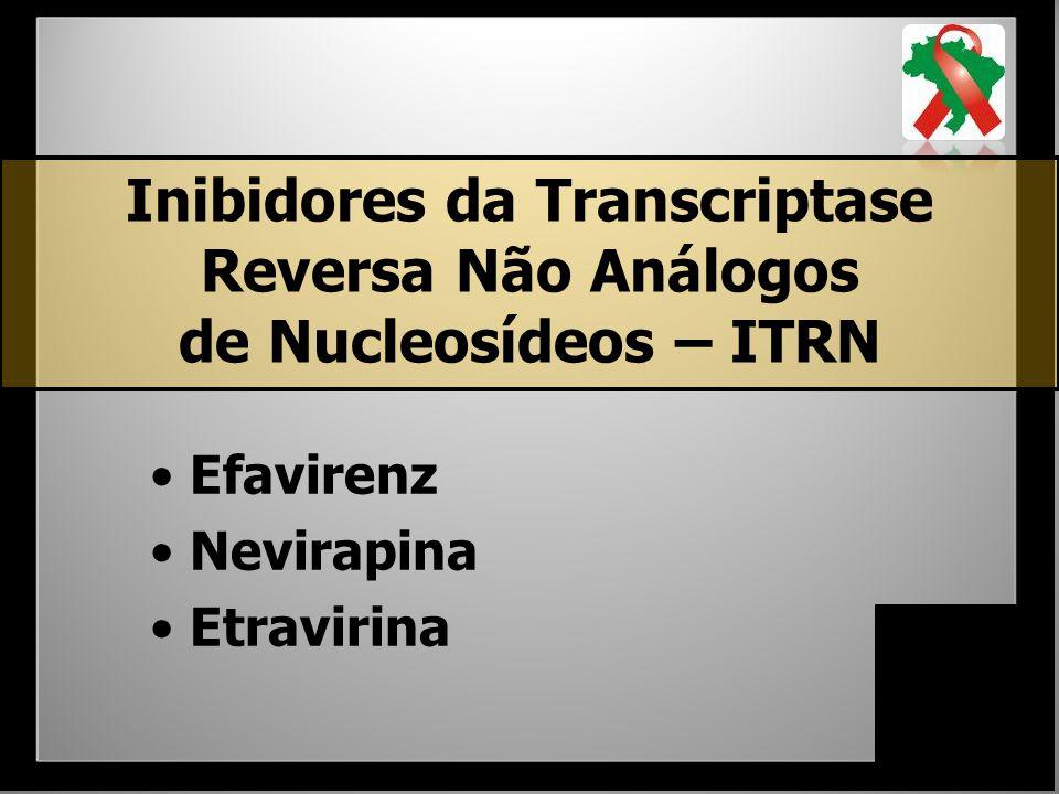 Inibidores da Transcriptase Reversa Não Análogos de Nucleosídeos – ITRN Efavirenz Nevirapina Etravirina