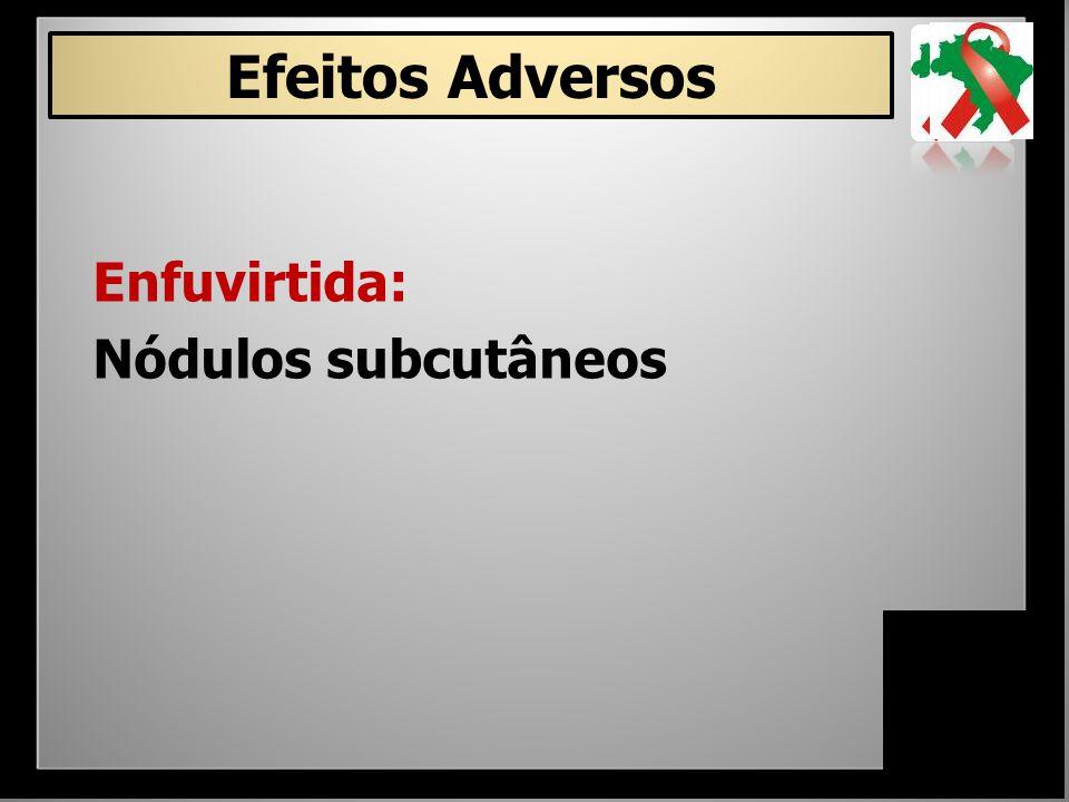 Enfuvirtida: Nódulos subcutâneos Efeitos Adversos