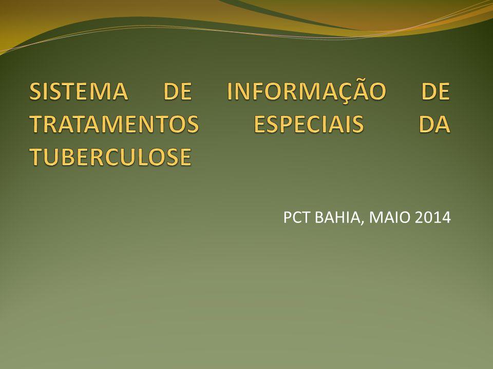 o Fase de elaboração (2010) Fase piloto (ES, BA, SC e PA) (2011) Avaliação (2012) Fase de implantação (2012/2013) Programa Nacional de Controle da Tuberculose Comitê Técnico Assessor – GT Informação (2009)