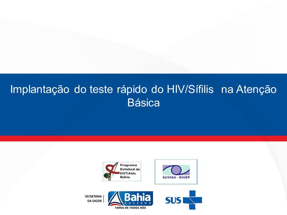 Implantação do teste rápido do HIV/Sífilis na Atenção Básica