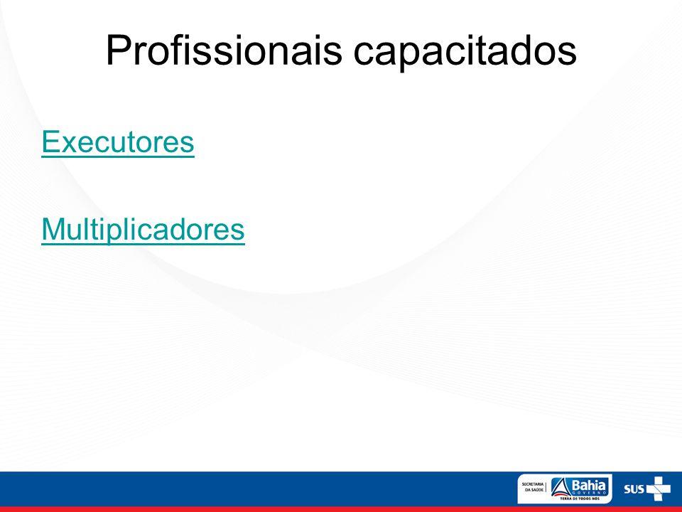 Profissionais capacitados Executores Multiplicadores