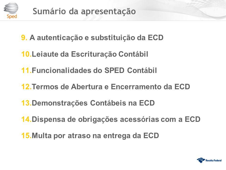 Quem deve apresentar a ECD As sociedades simples e as microempresas e empresas de pequeno porte optantes pelo Simples Nacional estão dispensadas da entrega.