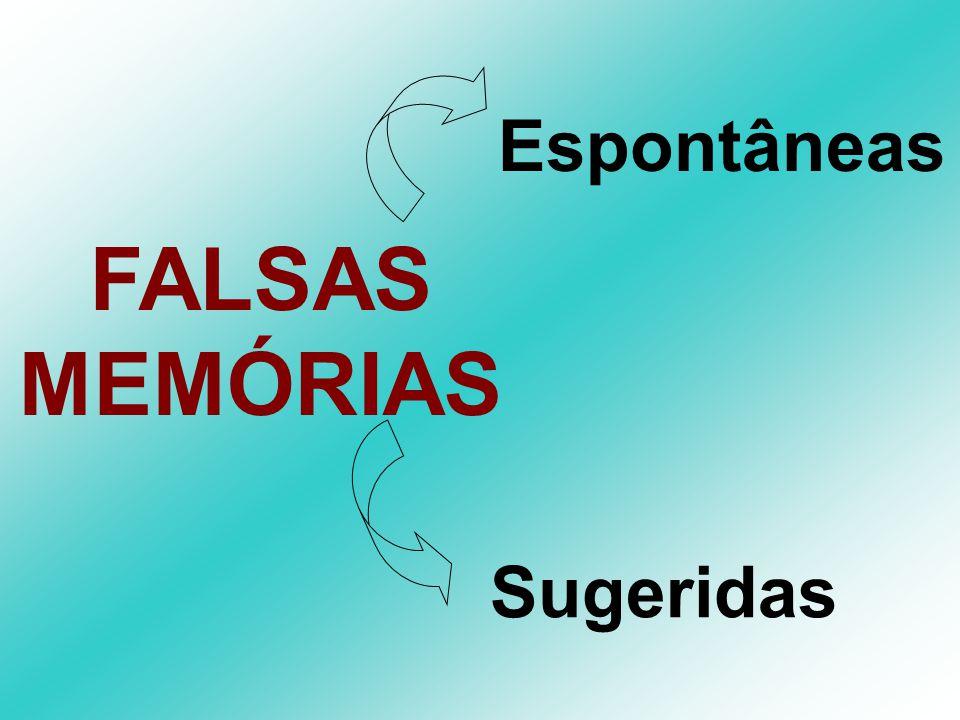 FALSAS MEMÓRIAS Sugeridas Espontâneas