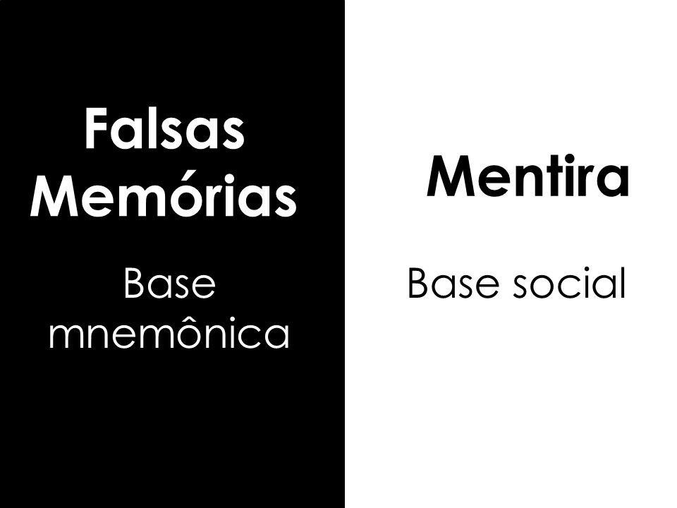 Mentira Base social Falsas Memórias Base mnemônica