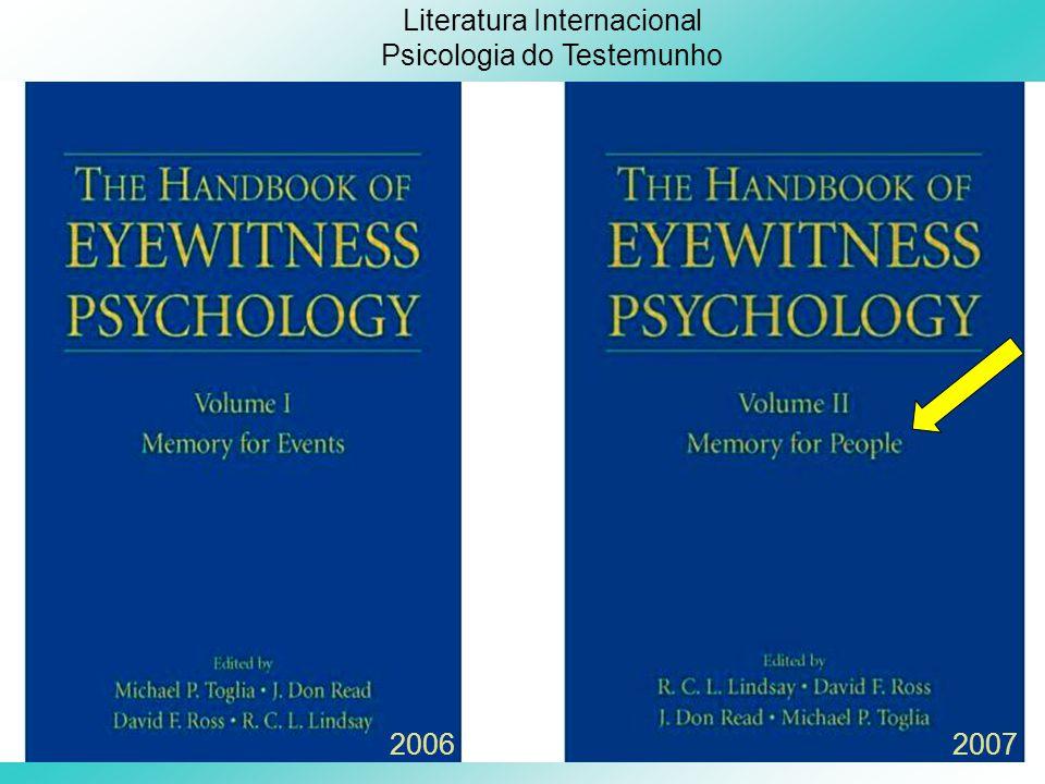 Literatura Internacional Psicologia do Testemunho 20062007