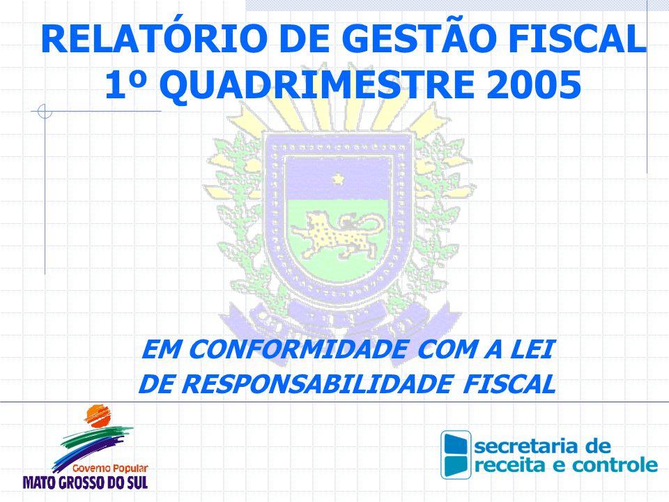 RELATÓRIO DE GESTÃO FISCAL 1º QUADRIMESTRE 2005 EM CONFORMIDADE COM A LEI DE RESPONSABILIDADE FISCAL