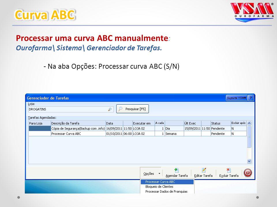 Processar uma curva ABC manualmente : Ourofarma\ Sistema\ Gerenciador de Tarefas.