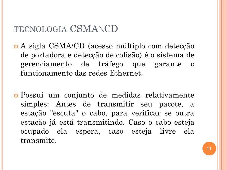 E XEMPLO CSMA/CD 12