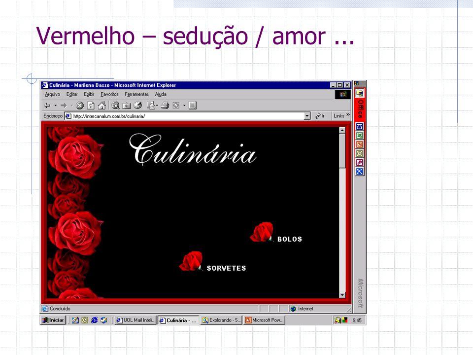 Vermelho – sedução / amor...