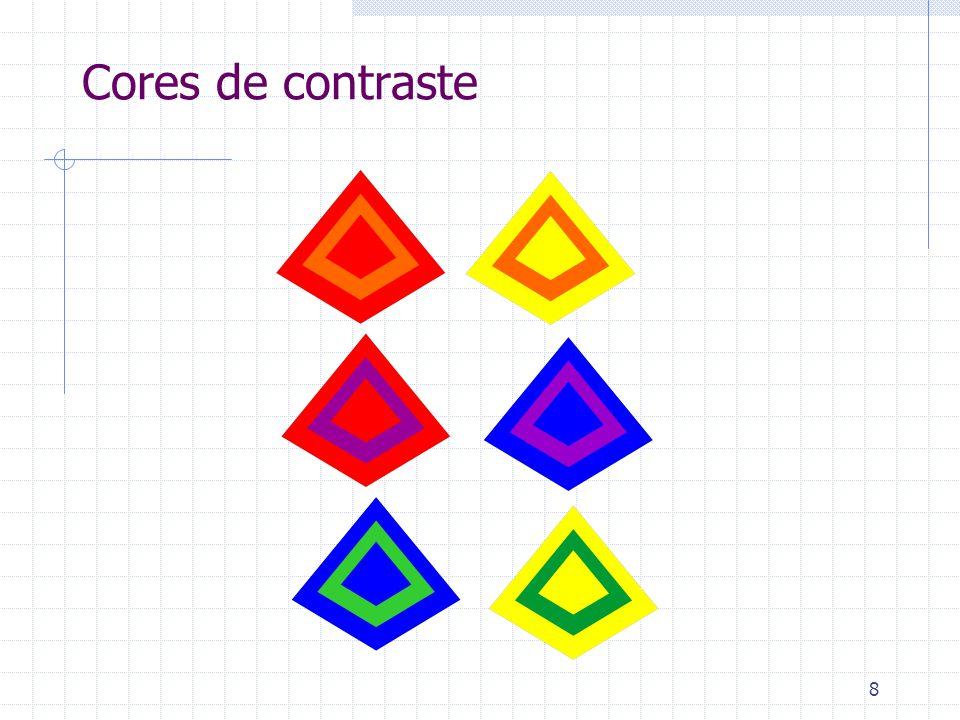 As Relações entre a cor e a forma Formas estridentes são reforçadas perceptivamente pelo AMARELO Formas recortadas são reforçadas perceptivamente pelo VERMELHO Formas orgânicas são reforçadas perceptivamente pelo AZUL