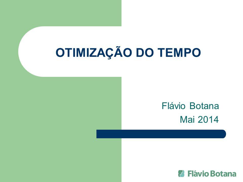 OTIMIZAÇÃO DO TEMPO Flávio Botana Mai 2014