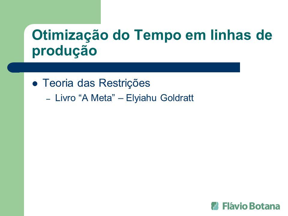 Otimização do Tempo em linhas de produção Teoria das Restrições – Livro A Meta – Elyiahu Goldratt