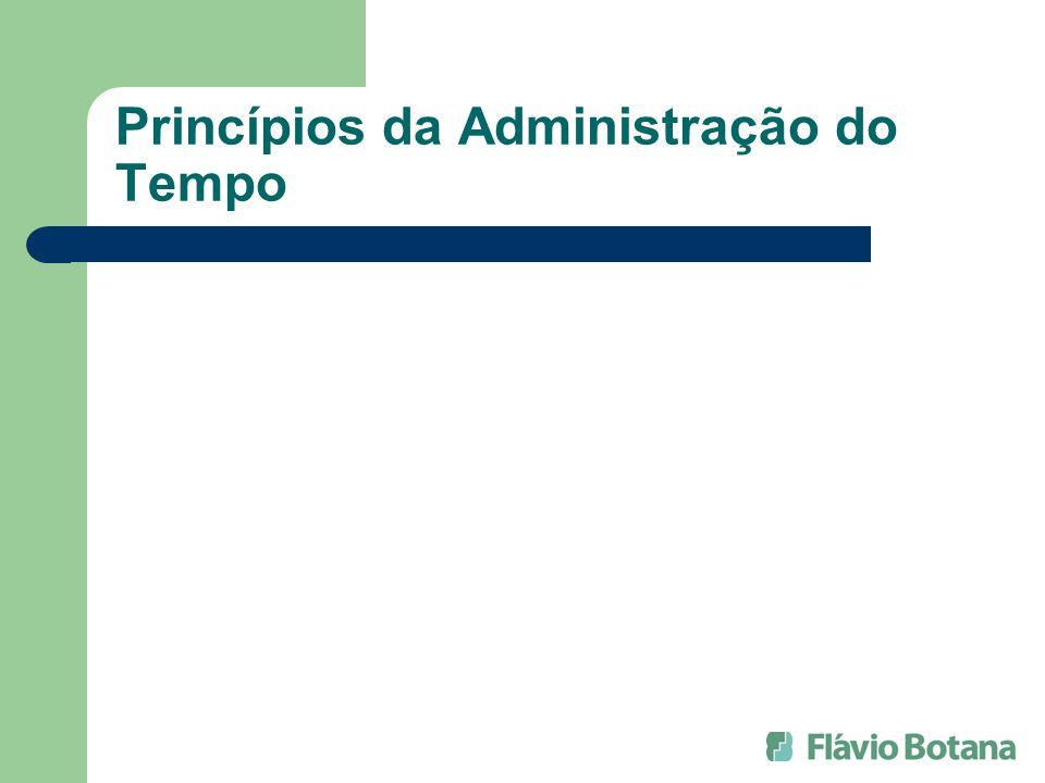 Princípios da Administração do Tempo