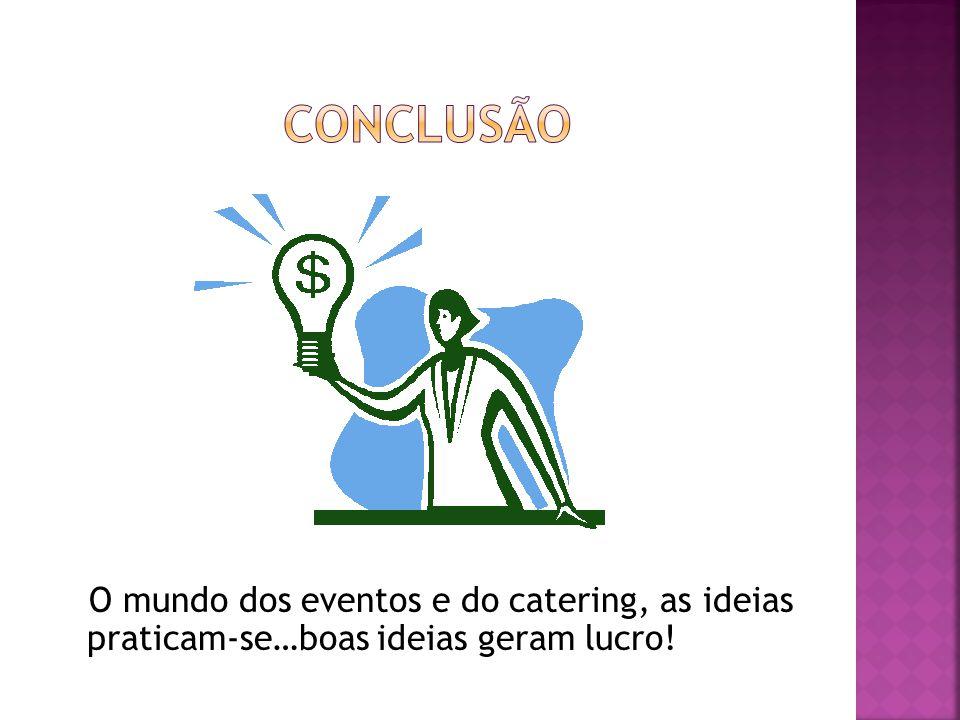 O mundo dos eventos e do catering, as ideias praticam-se…boas ideias geram lucro!