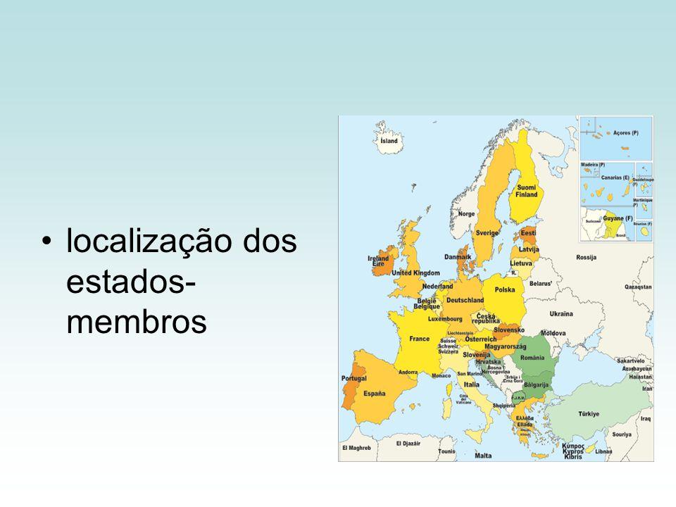 localização dos estados- membros