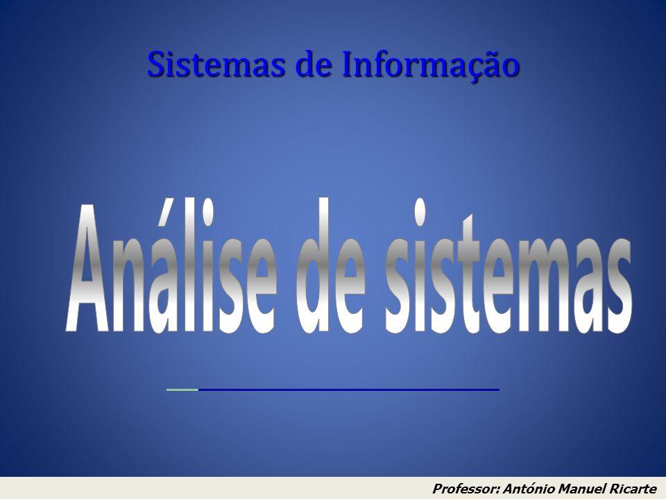Sistemas de Informação Professor: António Manuel Ricarte