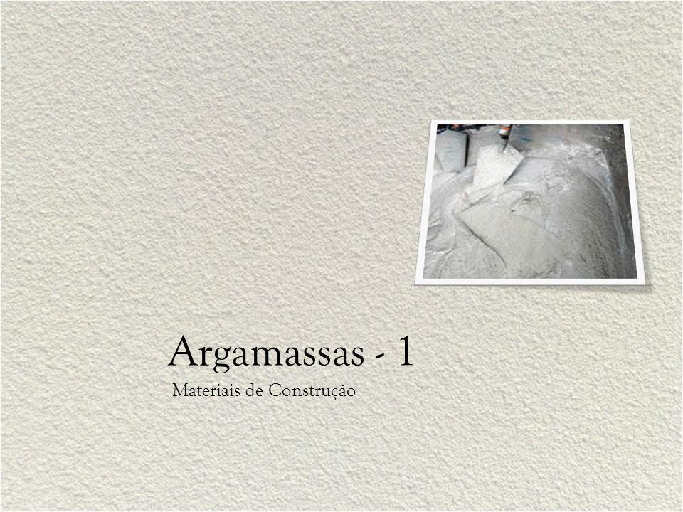 Argamassas - 1 Materiais de Construção