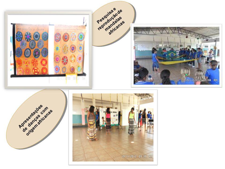 Pesquisa e reprodução de mandalas africanas Apresentações de danças com origem africanas