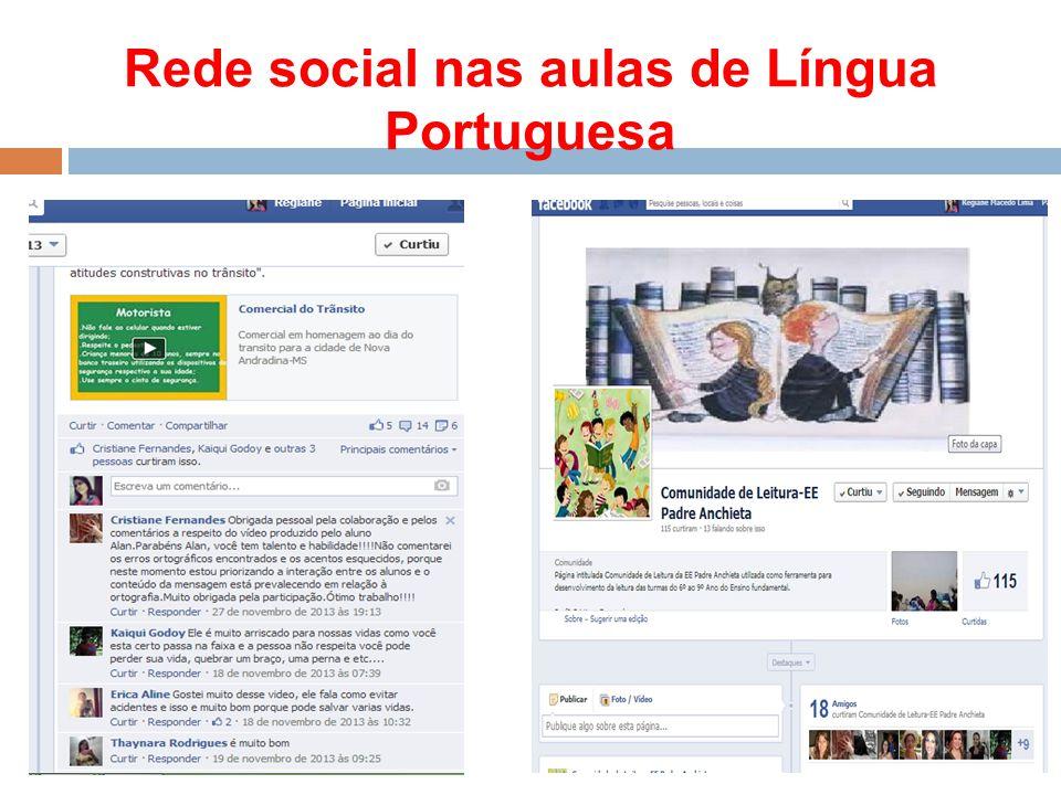 Rede social nas aulas de Língua Portuguesa