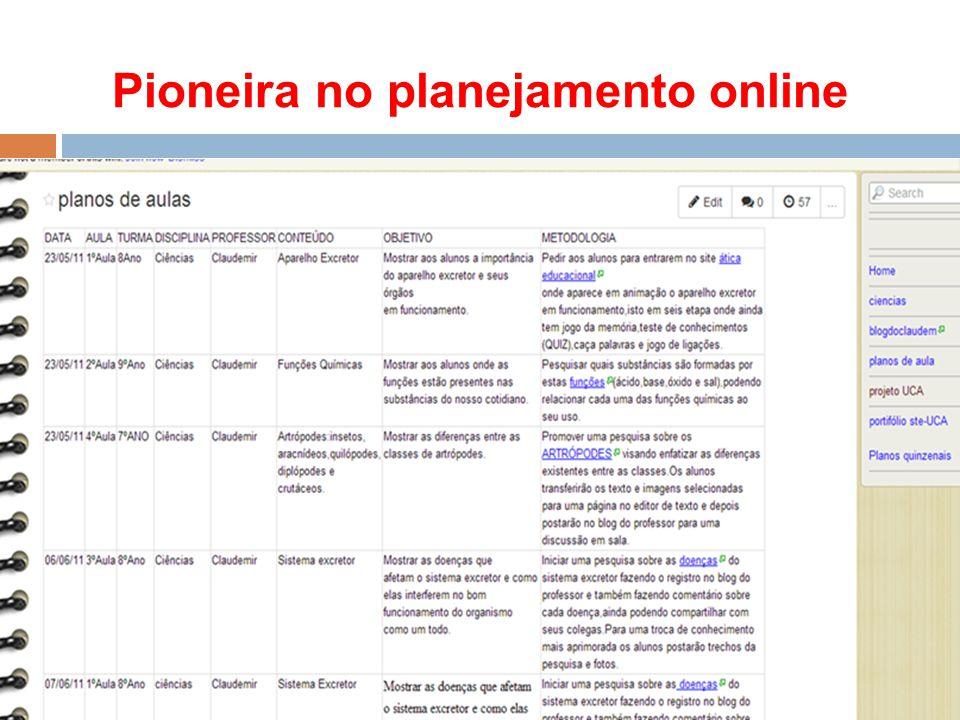 Pioneira no planejamento online