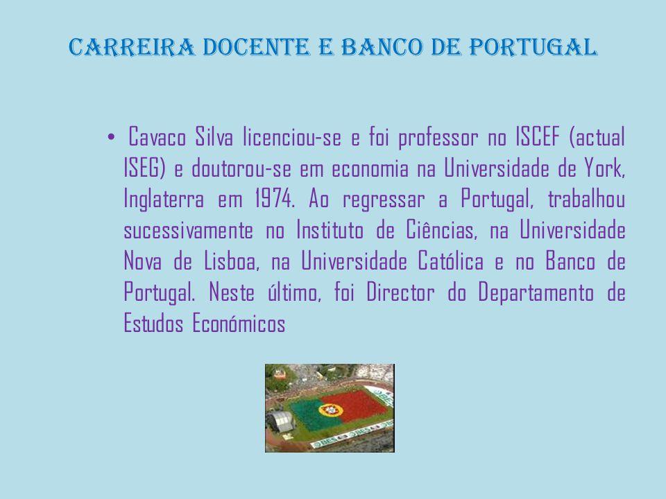 Ministro das finanças e plano Cavaco Silva ocupou o cargo de Ministro das Finanças e Plano no Governo de Francisco Sá Carneiro, em 1980, ganhando uma reputação de economista liberal.