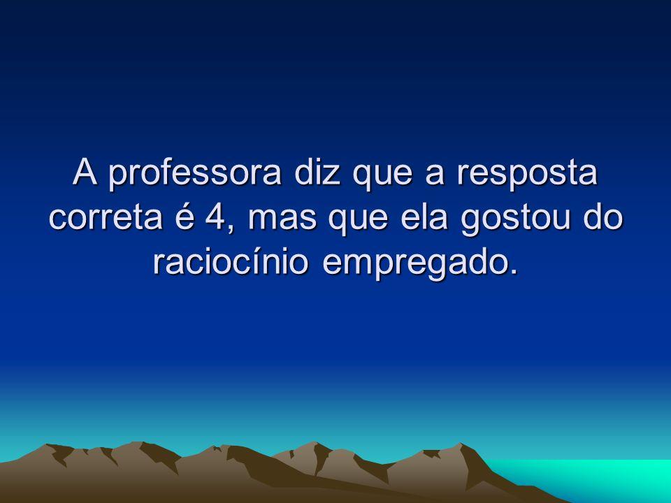 Joãozinho então pergunta se a professora pode responder-lhe qual de 3 mulheres que estão tomando sorvete, na casquinha, numa sorveteria é casada.