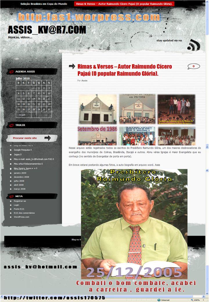 Auto-Biografia: Nascido aos 16 dias do mês de novembro de 1927 em Bodocó, Estado do Pernambuco.