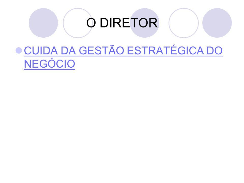 O DIRETOR CUIDA DA GESTÃO ESTRATÉGICA DO NEGÓCIO CUIDA DA GESTÃO ESTRATÉGICA DO NEGÓCIO