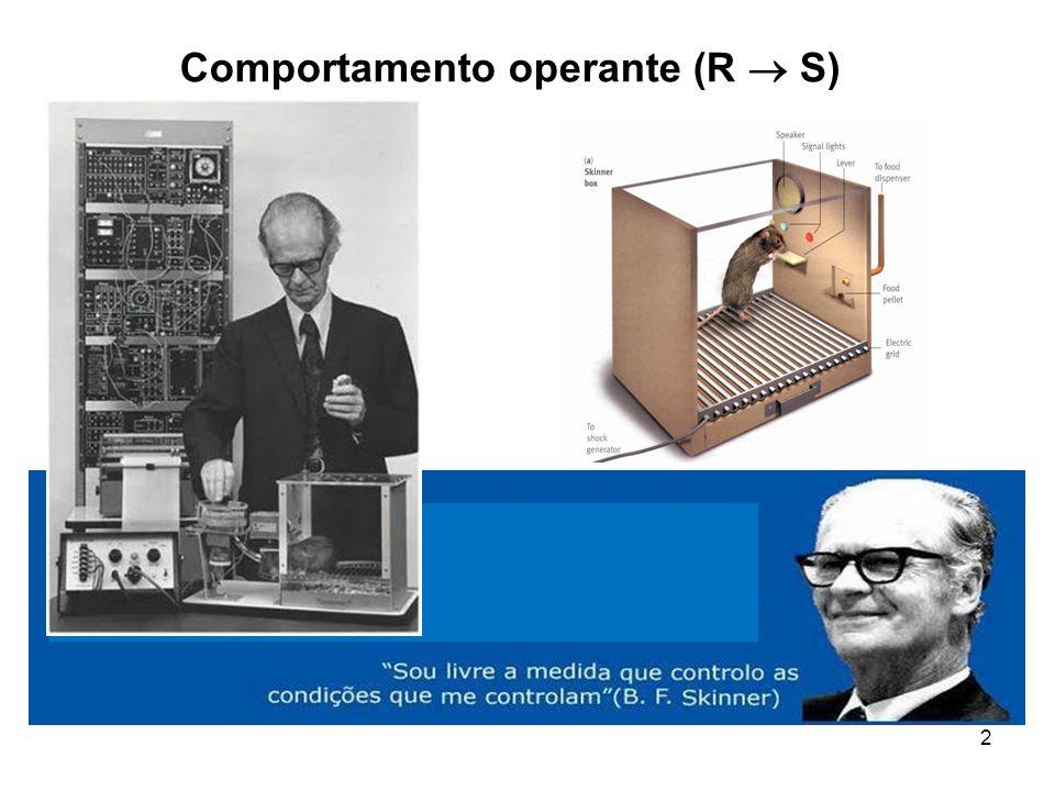 2 Comportamento operante (R  S)