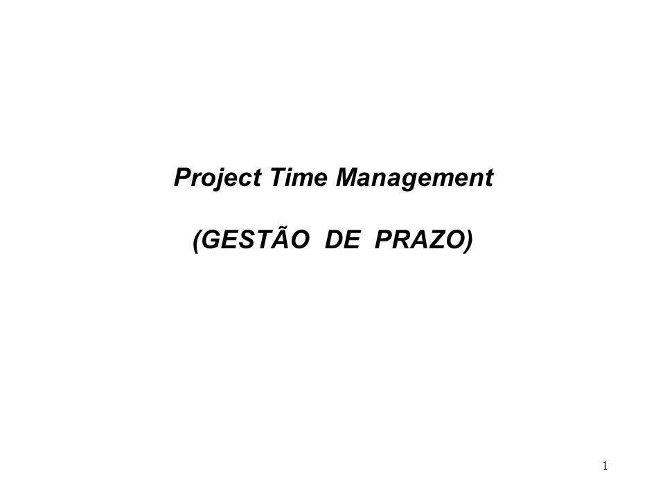 1 Project Time Management (GESTÃO DE PRAZO)