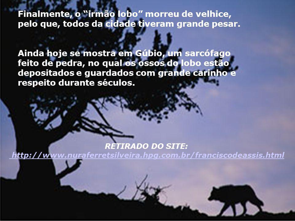Com a promessa de nunca mais lesar nem homem nem animal, foi o lobo com Francisco até a cidade.