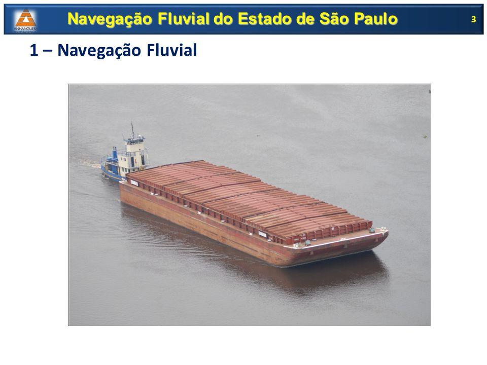 ANTAQ Regular, supervisionar e fiscalizar as atividades de prestação de serviços de transporte aquaviário; Garantir a movimentação de pessoas e bens; Harmonizar os interesses dos usuários com os das empresas concessionárias 14 Navegação Fluvial do Estado de São Paulo