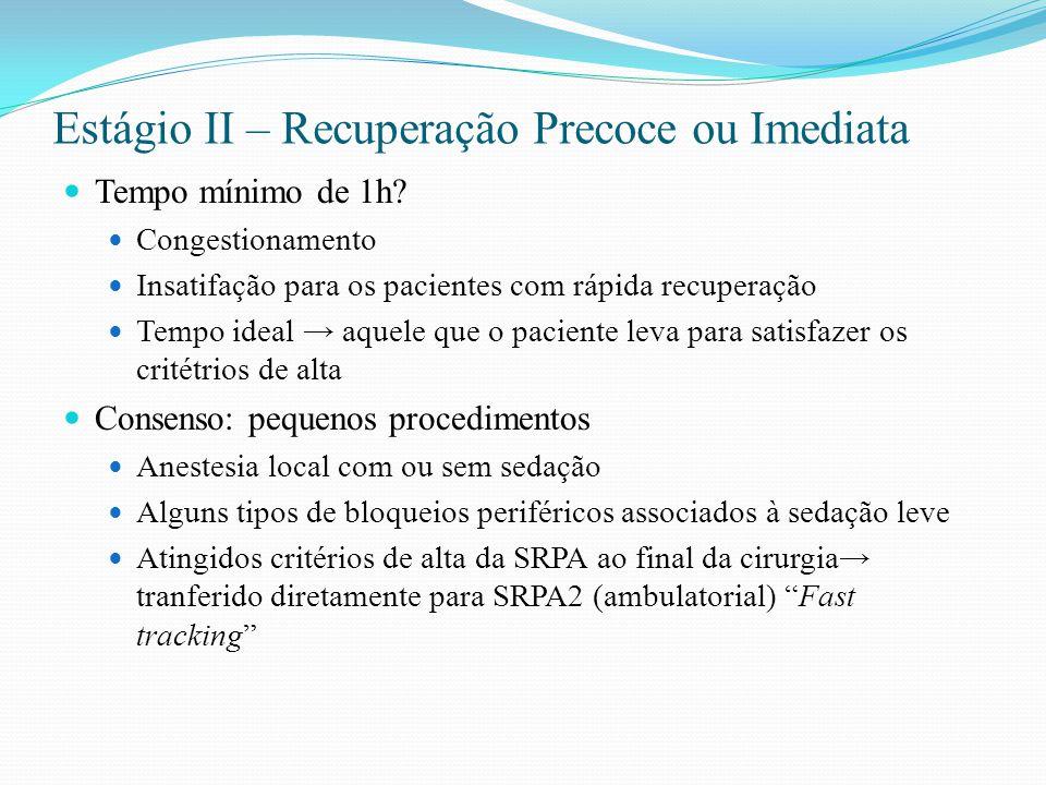 Escala modificada de Aldrete-Kroulik ItemNota AtividadeMove quatro membros02 Move dois membros01 Move nenhum membro00 RespiraçãoProfunda02 Limitada, dispnéia01 Apnéia00 ConsciênciaAcordado02 Despertado ao chamado01 Nao responde ao chamado00 Circulação (PA)20% nível pré-anestésico02 20 a 49% nível pré-anestésico01 50 % nível pré-anestésico00 SpO 2 SpO 2 > 92 em ar ambiente 02 SpO 2 > 90% em ar ambente 01 SpO2 < 90% em ar ambiente00