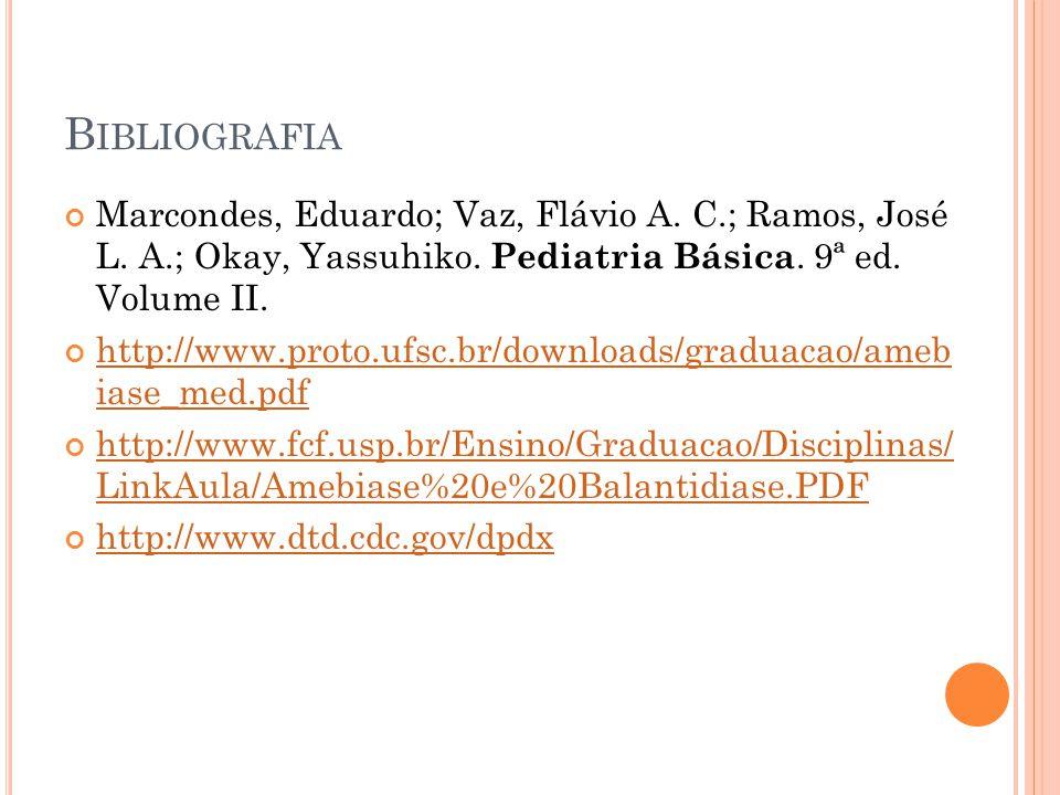B IBLIOGRAFIA Marcondes, Eduardo; Vaz, Flávio A.C.; Ramos, José L.