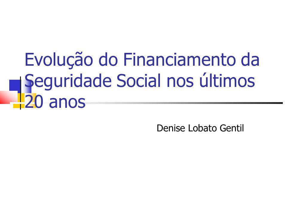 Evolução do Financiamento da Seguridade Social nos últimos 20 anos Denise Lobato Gentil