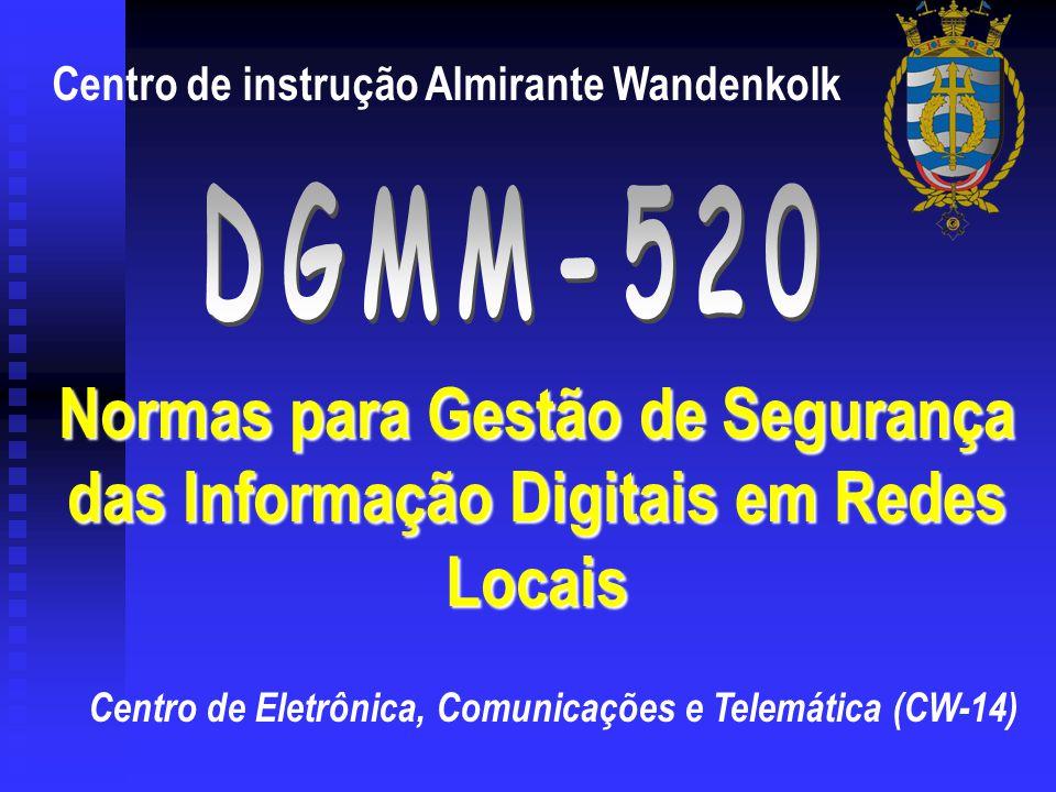 Centro de Eletrônica, Comunicações e Telemática (CW-14) Centro de instrução Almirante Wandenkolk Normas para Gestão de Segurança das Informação Digita